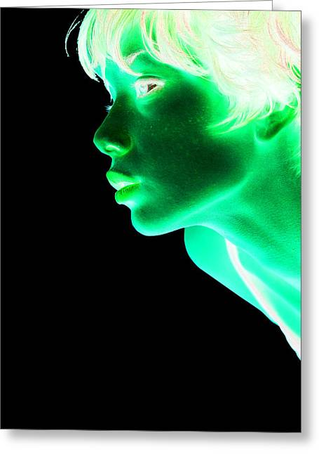 Inverted Realities - Green  Greeting Card