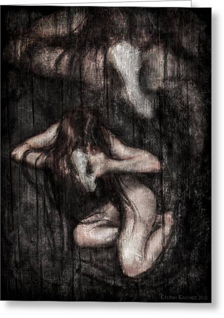 Invoking Possession Greeting Card by Kalynn Kallweit