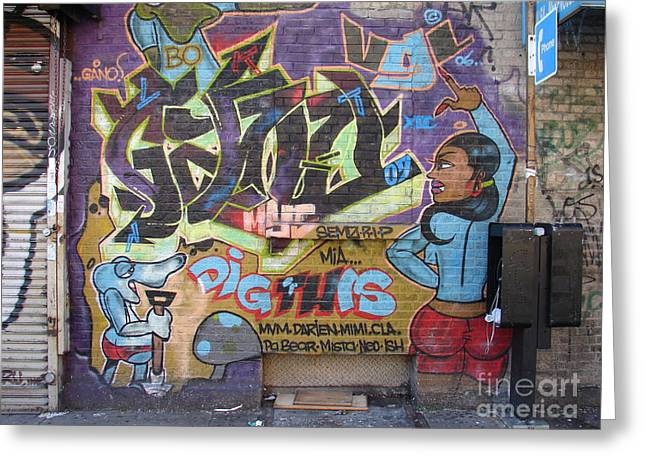 Greeting Card featuring the photograph Inwood Graffiti  by Cole Thompson