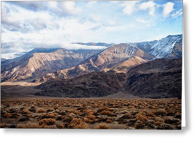 Owen County Greeting Cards - Inyo Mountains Morning Greeting Card by Troy Montemayor