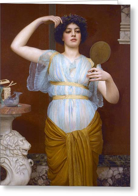 Ione Greeting Card by John William Godward