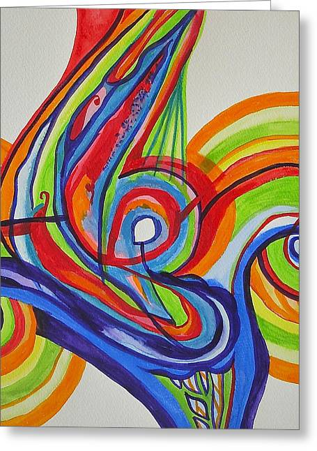 Iridescent Twister Greeting Card by Erika Swartzkopf