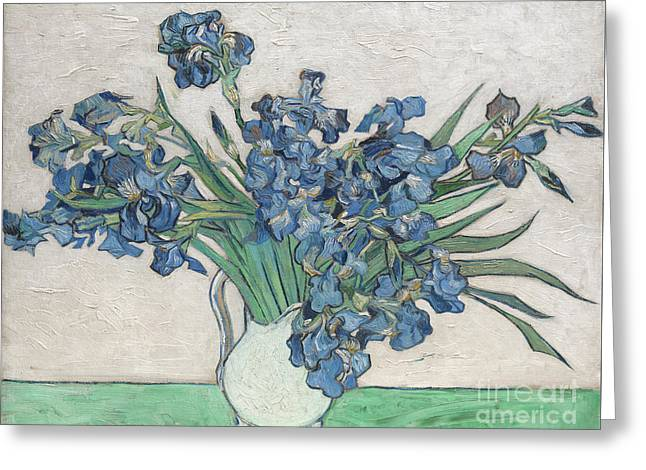Irises, 1890 Greeting Card by Vincent Van Gogh