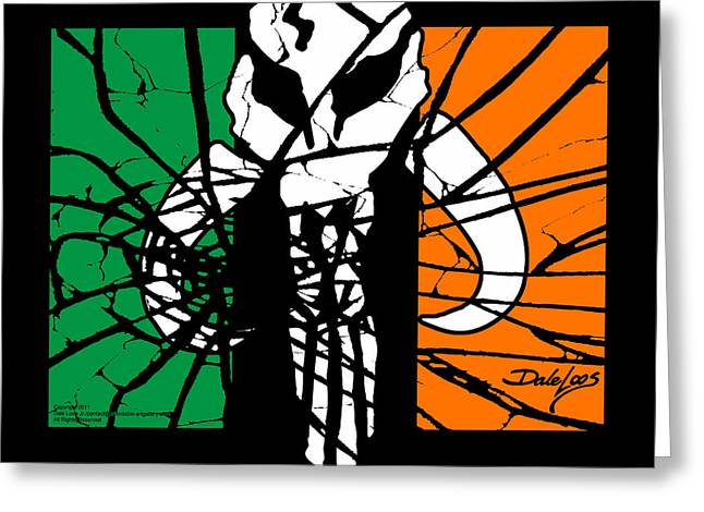 Irish Mandalorian Flag Greeting Card
