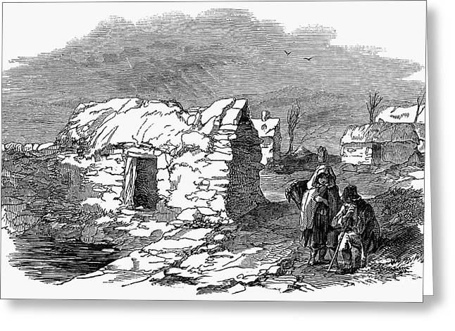 Famine Greeting Cards - Irish Potato Famine, 1847 Greeting Card by Granger