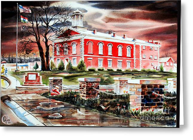 Iron County Courthouse II Greeting Card by Kip DeVore