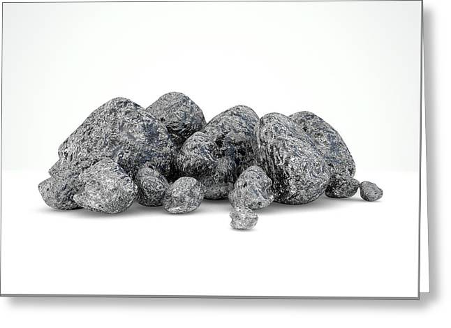 Iron Ore Nugget Collection Greeting Card by Allan Swart