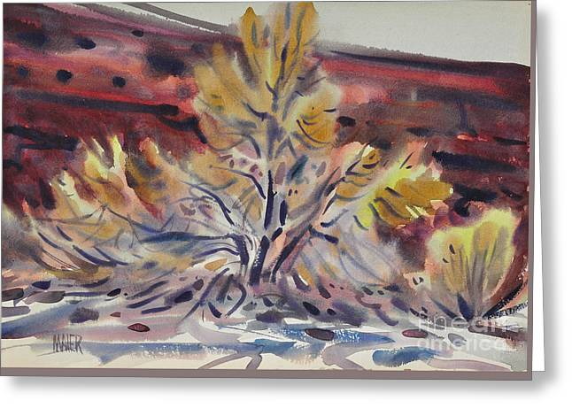 Ironwood Greeting Card by Donald Maier