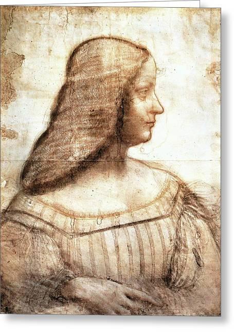Isabella D'este Greeting Card by Leonardo da Vinci