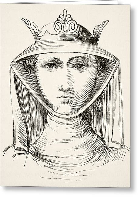 Isabella Of France Circa 1295 To 1358 Greeting Card by Vintage Design Pics