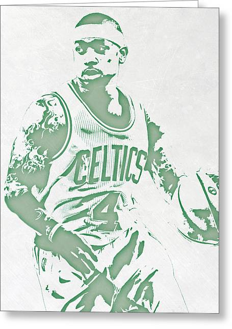 Isaiah Thomas Boston Celtics Pixel Art Greeting Card