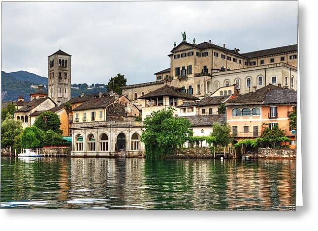 Island Of San Giulio On Lake Orta Greeting Card by Joana Kruse