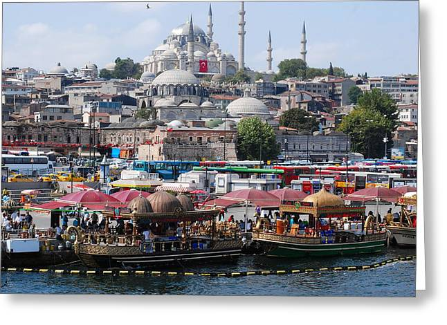 Istanbul Greeting Card by Andrea Simon