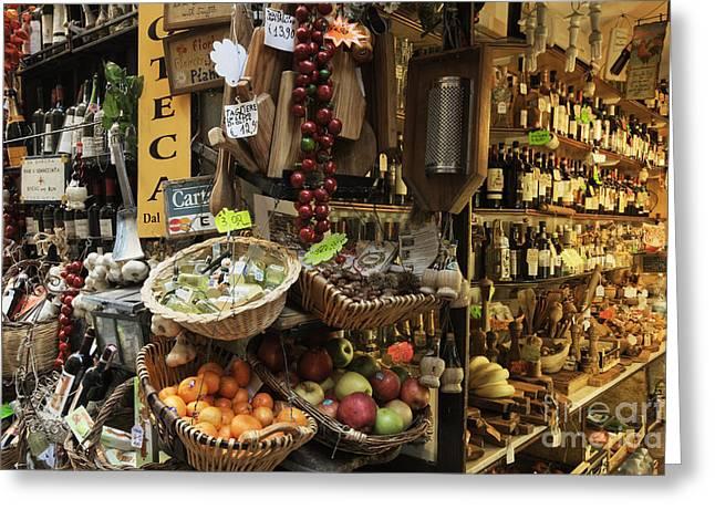 Italian Delicatessen Or Macelleria Greeting Card