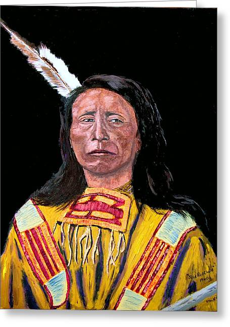 Jack Red Cloud Greeting Card by Stan Hamilton