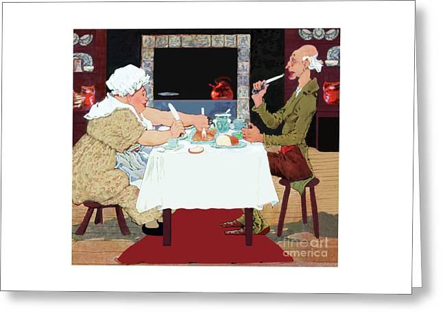 Jack Sprat Vintage Mother Goose Nursery Rhyme Greeting Card