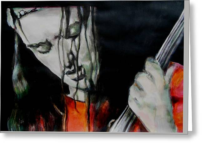 Jaco Pastorius Greeting Card by Lucia Hoogervorst