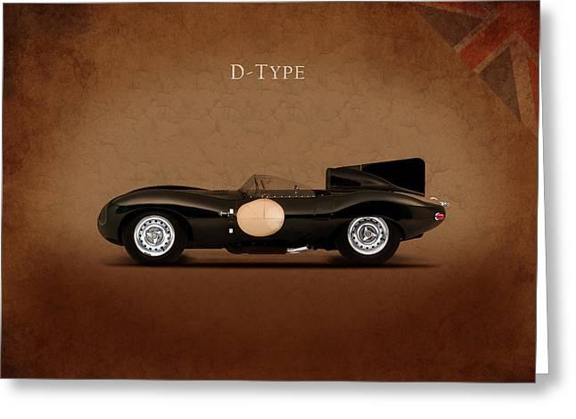 Jaguar D Type Greeting Card by Mark Rogan