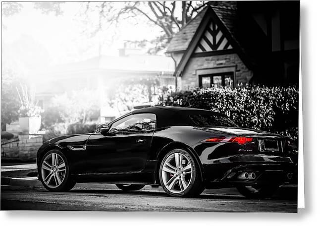 Jaguar F Type S  Greeting Card by Darek Szupina Photographer