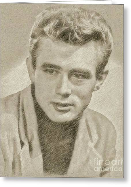James Dean Hollywood Legend Greeting Card by Frank Falcon