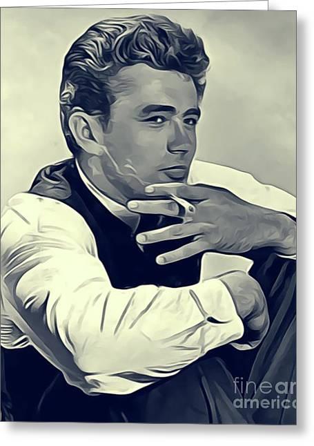 James Dean, Vintage Actor Greeting Card