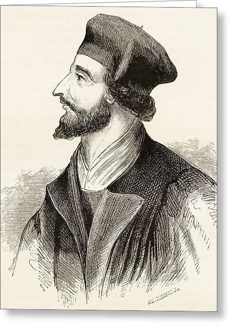 Jan Hus, C.1369 To 1415 Aka John Huss Greeting Card by Vintage Design Pics