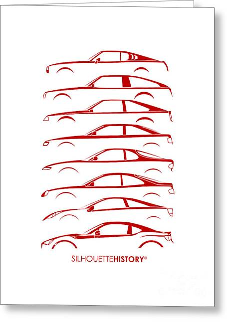 Japanese Coupe Silhouettehistory Greeting Card by Gabor Vida