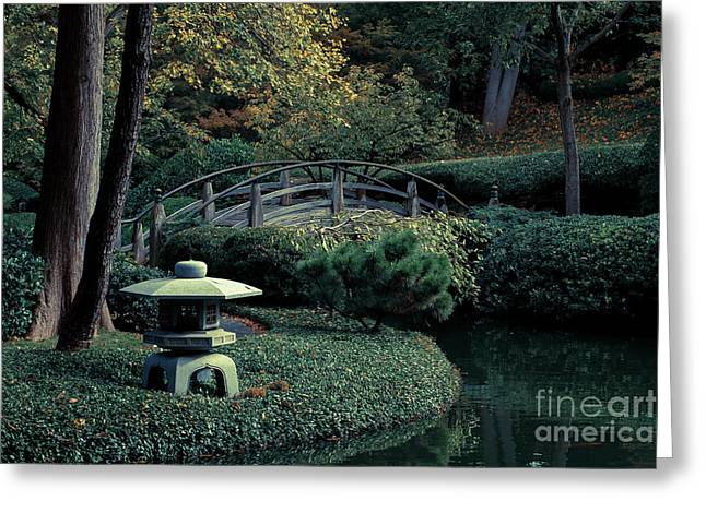 Greeting Card featuring the photograph Japanese Garden In Summer by Iris Greenwell