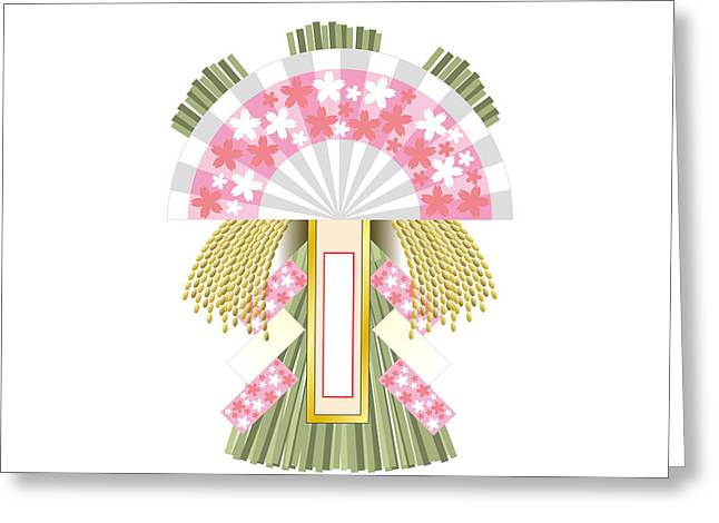 Japanese Newyear Decoration Greeting Card