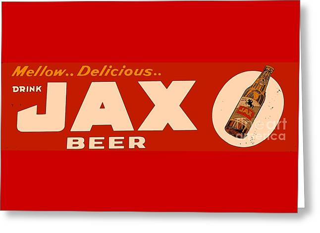 Jax Beer Of New Orleans Greeting Card by Saundra Myles