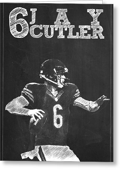 Jay Cutler Greeting Card by Semih Yurdabak