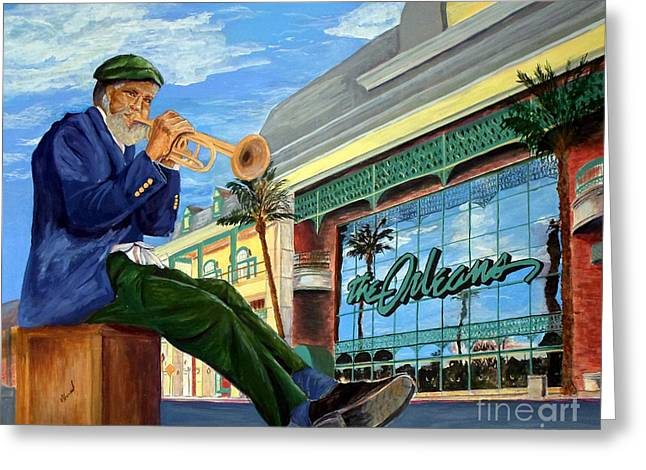 Jazz At The Orleans Greeting Card