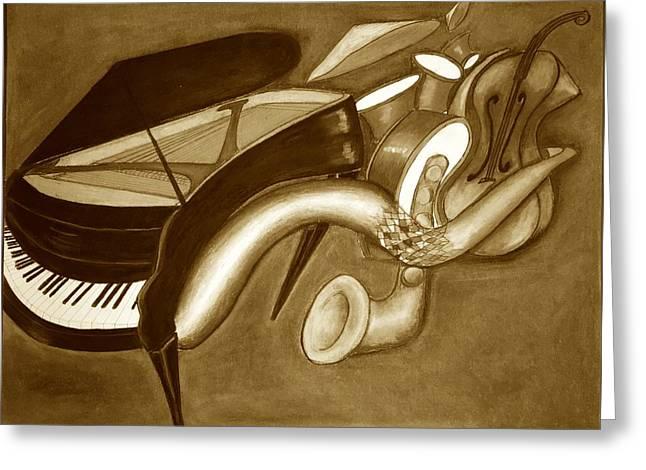 Jazz Fusion Greeting Card