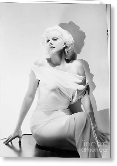 Jean Harlow (1911-1937) Greeting Card by Granger