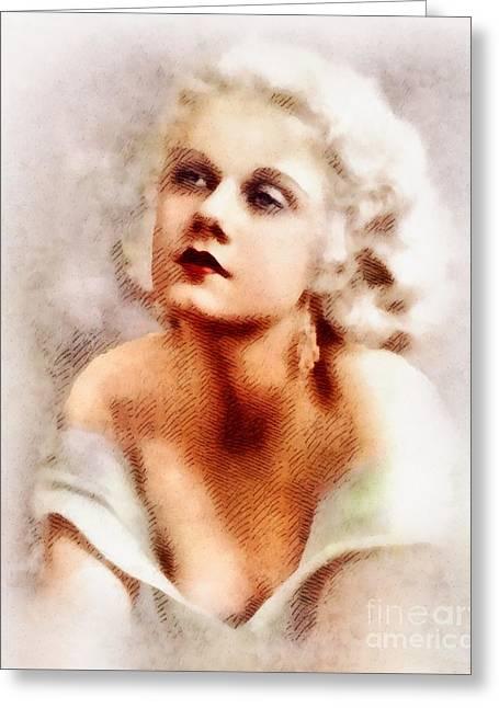Jean Harlow, Vintage Actress By John Springfield Greeting Card