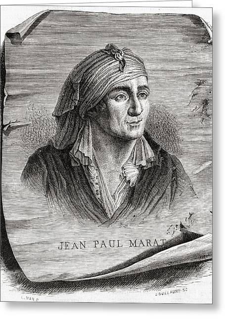 Jean-paul Marat,1743-1793. French Greeting Card by Vintage Design Pics