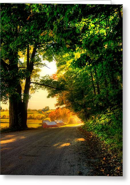 Jenne Farm - Autumn In New England Greeting Card by Joann Vitali