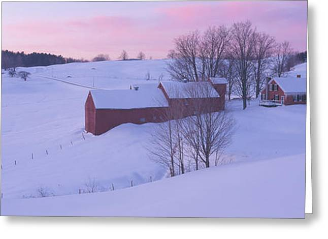 Jenny Farm, South Of Woodstock, Vermont Greeting Card by Panoramic Images