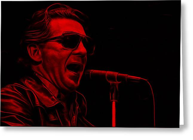 Jerry Lee Lewis Collection Greeting Card by Marvin Blaine