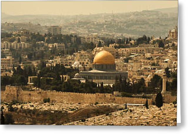 Jerusalem Greeting Card by Amr Miqdadi