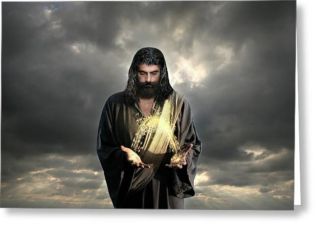 Jesus Christ- Look I Am Coming Soon Greeting Card