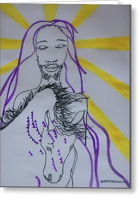 Jesus - Faithful And True Greeting Card by Gloria Ssali