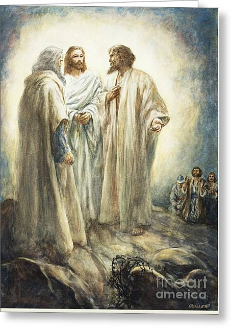Jesus Greeting Card by Henry Coller