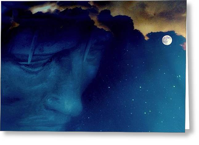 Jesus In The Night.. Greeting Card by Al  Swasey