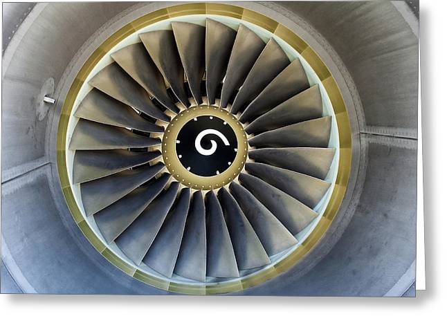 Aeronautical Greeting Cards - Jet engine detail. Greeting Card by Fernando Barozza