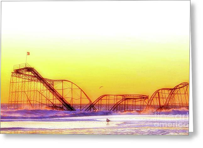 Jet Star Rollercoaster, Seaside Heights  Greeting Card