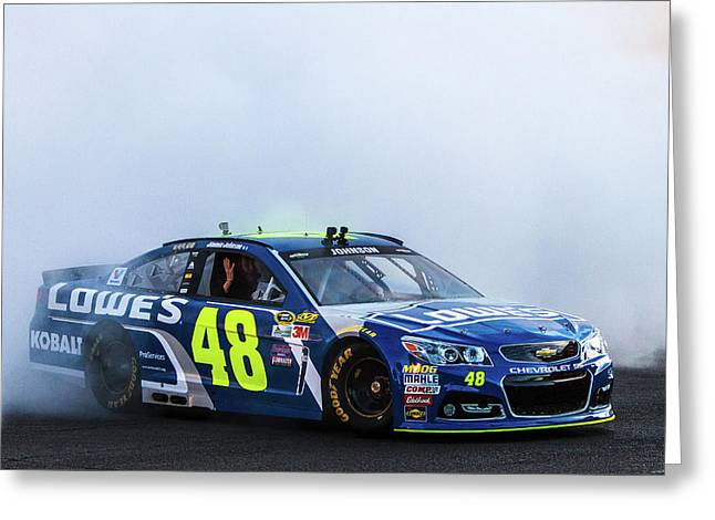 Jimmie Johnson  Greeting Card by James Marvin Phelps