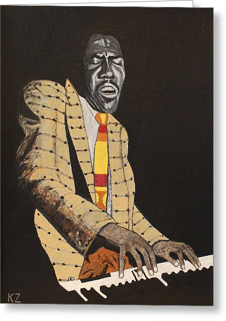 Jimmy Smith.king Of The Jazz Hammond B-3. Greeting Card by Ken Zabel
