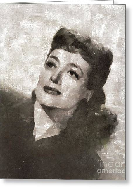Joan Crawford Hollywood Actress Greeting Card
