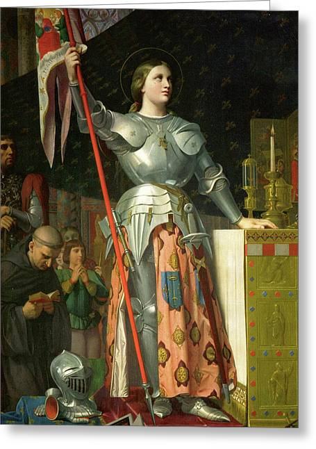Joan Of Arc At The Coronation Of Charles Vii Greeting Card by Jean-Auguste-Dominique Ingres